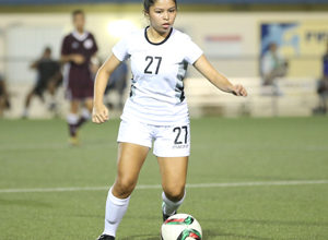 Hannah Cruz of the Young Masakåda, Guam U19 Women's National Team controls the ball in the midfield during a recent training session at the Guam Football Association National Training Center. The Guam U19 Women's National Team, as well as the Guam U17 Boys National Team will play in this weekend's 2018 Marianas Cup in Saipan.