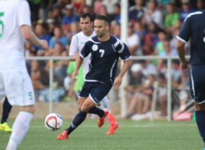 Guam's John Matkin controls the ball in the midfield against Turkmenistan during Guam's first-ever FIFA World Cup Qualifier match held in Guam Thursday afternoon at the Guam Football Association National Training Center. Guam defeated Turkmenistan 1-0.