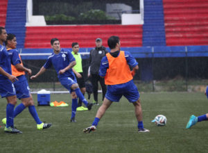 Guam's Jonahan Romero (3) engages in a training drill during a practice session with the Matao in Bangalore, India. The Matao is set to play India on Nov. 12 for its sixth match of the 2018 FIFA World Cup Russia and AFC Asian Cup UAE 2019 Preliminary Joint Qualification Round 2. The team will return to Guam for a Nov. 17 match against I.R. Iran.