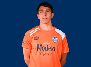 Guam's Mason Grimes poses for an official club photo for the Tulsa Roughnecks FC, a professional team in the USL