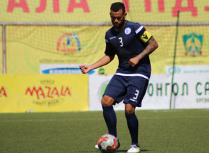 Guam's Shawn Nicklaw controls the ball in the midfield in a match against Macau during the EAFF E-1 Football Championship Round 1 in Ulaanbaatar, Mongolia last week in this file photo. Guam finished 1-1-1 in the tournament and now look forward to preparing for the upcoming AFC Asian Cup and FIFA World Cup qualifiers. Photo courtesy of the Mongolian Football Federation (MFF).