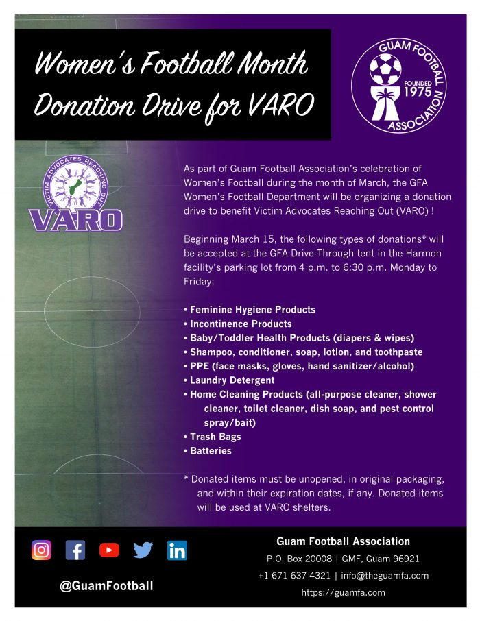 VARO donation drive flyer